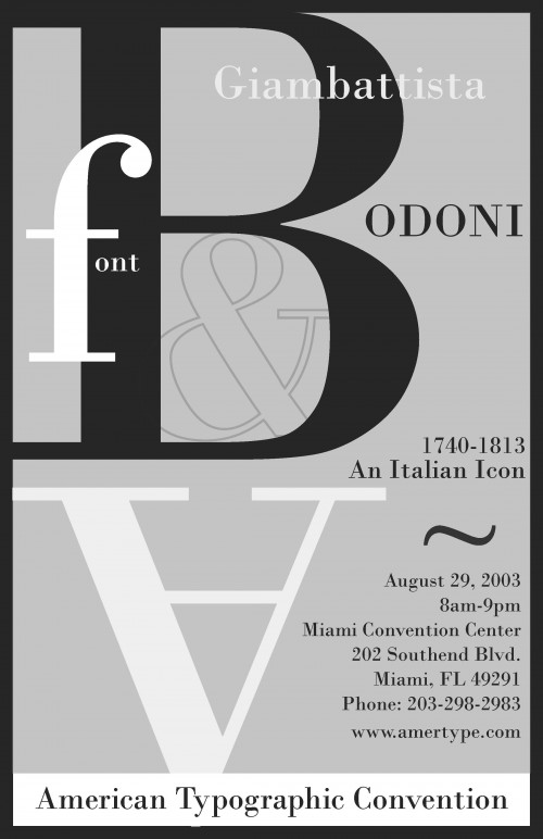 Bodoni Poster Large View