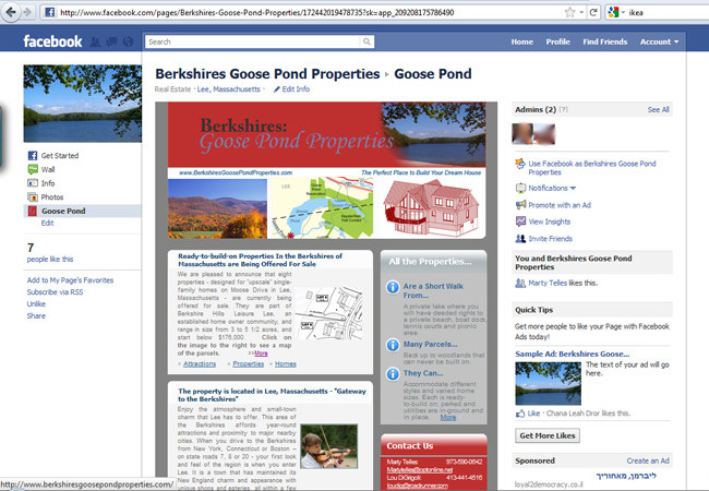 Goose Pond Properties Facebook Page