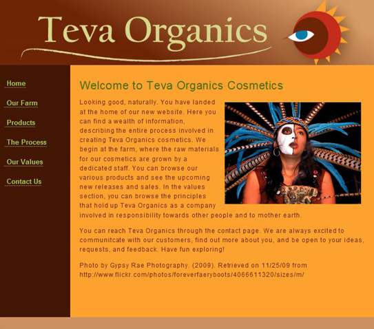 Teva Organics Website