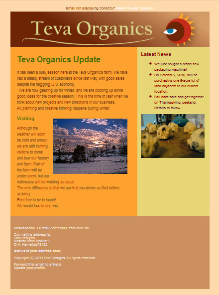 Teva Organics Newsletter