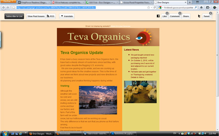 Teva Organics Newsletter 2