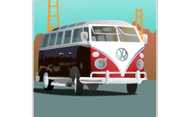 VW Bus Vector Illustration