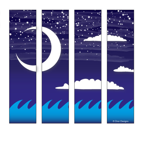 Night Sky 4 Panels
